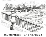 pencil drawing  black and white ... | Shutterstock . vector #1467578195