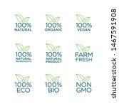 100  natural  organic  vegan ...   Shutterstock .eps vector #1467591908
