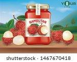 rambutan syrup in bottles half...   Shutterstock .eps vector #1467670418