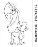 outline illustration of a... | Shutterstock . vector #146768642