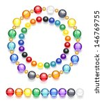 two necklaces of transparent... | Shutterstock .eps vector #146769755