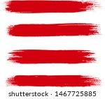brush stroke set isolated on... | Shutterstock .eps vector #1467725885