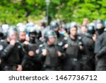 Blurred image of police at a...