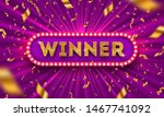winner retro signboard and... | Shutterstock .eps vector #1467741092