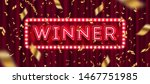 neon light winner retro...   Shutterstock .eps vector #1467751985