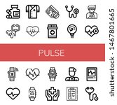 set of pulse icons such as... | Shutterstock .eps vector #1467801665