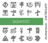 Set Of Signpost Icons Such As...
