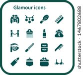 glamour icon set. 16 filled... | Shutterstock .eps vector #1467802688