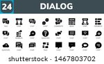 dialog icon set. 24 filled... | Shutterstock .eps vector #1467803702