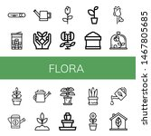 set of flora icons such as mint ... | Shutterstock .eps vector #1467805685