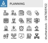 set of planning icons such as... | Shutterstock .eps vector #1467805922