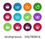 shopping basket circle icons on ...