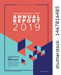 vector abstract annual report... | Shutterstock .eps vector #1467816485