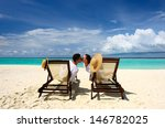 couple on a tropical beach at... | Shutterstock . vector #146782025