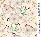 Retro Bicycle Texture. Seamless ...