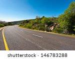 Asphalt Road In The Golan...
