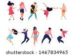 crowd of young people dancing...   Shutterstock .eps vector #1467834965
