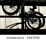 Bicycles Hanging Disused