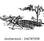 playful horse   retro clip art...   Shutterstock .eps vector #146787098