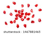 Pomegranate Seeds Isolated On...