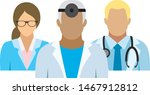 medical team. icons with... | Shutterstock .eps vector #1467912812