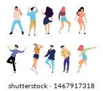 crowd of young people dancing...   Shutterstock .eps vector #1467917318