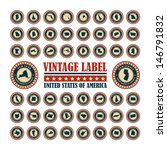 vector set vintage label with... | Shutterstock .eps vector #146791832
