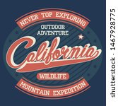 california explore sport wear t ... | Shutterstock .eps vector #1467928775