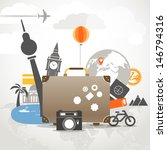 vacation travelling composition ... | Shutterstock .eps vector #146794316