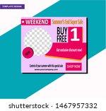 summer sale discount banner... | Shutterstock .eps vector #1467957332