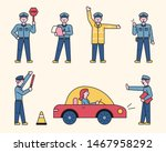 traffic police character is... | Shutterstock .eps vector #1467958292