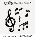 vector set of hand drawn music... | Shutterstock .eps vector #1467962645