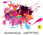 abstract artistic background of ... | Shutterstock .eps vector #146797502
