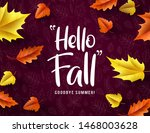 hello fall vector typography.... | Shutterstock .eps vector #1468003628