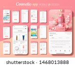 cosmetic shopping app mobile ui ... | Shutterstock .eps vector #1468013888