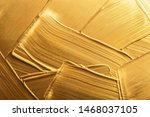 strokes of gold paint as... | Shutterstock . vector #1468037105