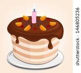 nice vector cake | Shutterstock .eps vector #146805236