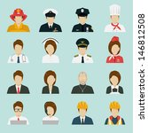 profession icons set  vector. | Shutterstock .eps vector #146812508