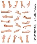set of people showing different ...   Shutterstock . vector #1468140632
