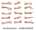 set of people showing different ... | Shutterstock . vector #1468140638
