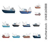 Vector Illustration Of Boat And ...