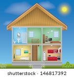 detailed house interior | Shutterstock . vector #146817392