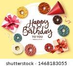 happy birthday greeting card... | Shutterstock .eps vector #1468183055