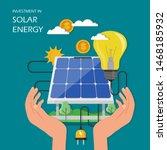 investment in solar energy...   Shutterstock . vector #1468185932