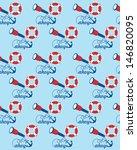 sea seamless pattern design.... | Shutterstock .eps vector #146820095