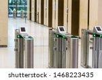 electronic entrance gate card...   Shutterstock . vector #1468223435