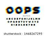 glitch style font design ... | Shutterstock .eps vector #1468267295