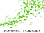 dancing green leaves and music... | Shutterstock .eps vector #1468268075