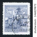 austria   circa 1957  stamp... | Shutterstock . vector #146829872