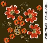 composition of red flowers in...   Shutterstock .eps vector #1468312088